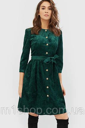 Женское расклешенное приталенное платье из вельвета (Torio crd), фото 2