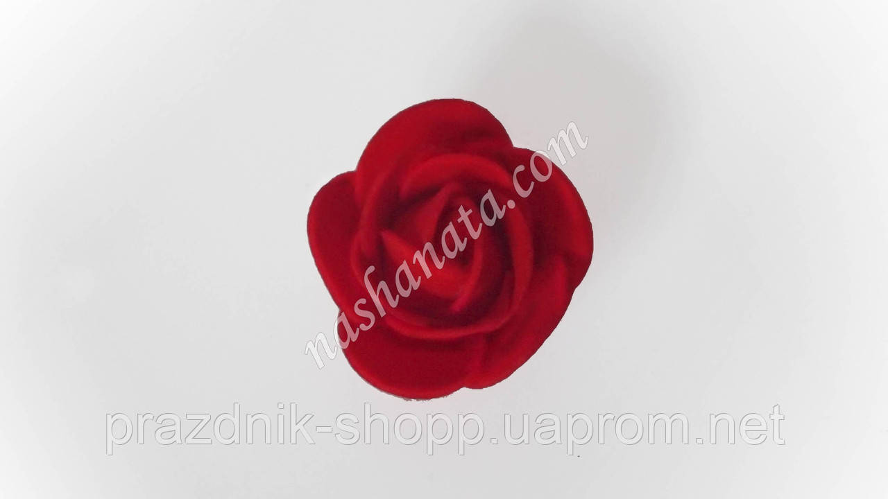 Роза красная, латекс.