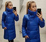 Женское пальто зимнее плащевка силикон 300 высокий ворот размер: 42,44,46,48, фото 4