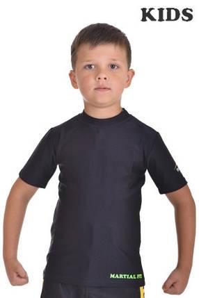 Футболка компрессионная BERSERK  MARTIAL FiT KIDS black, фото 2