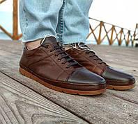 Натуральная кожа! Мужские туфли Random (размеры в описании) на шнурке