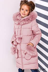 Детская зимняя куртка Мелитта-2,мех песец