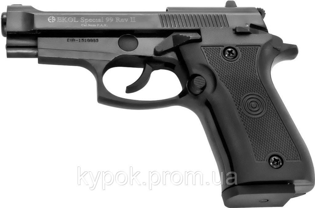 Стартовый (шумовой) пистолет Voltran Ekol Special 99 Rev-2 Black