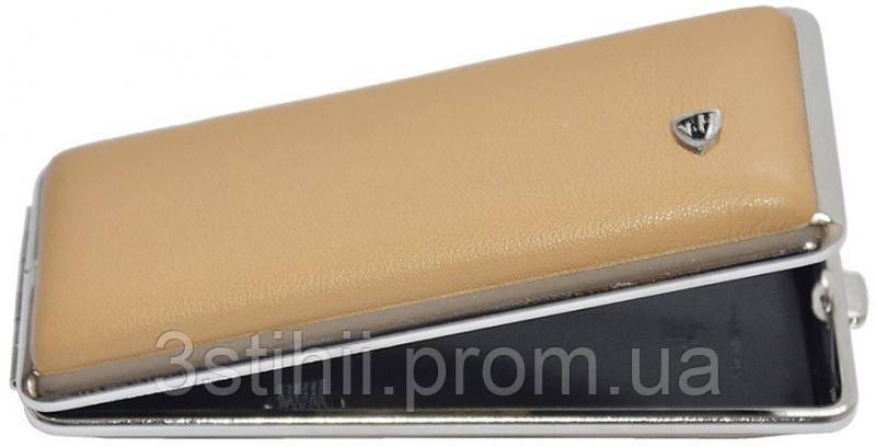 Портсигар VH 904355 для 8 KS/12 Super KS сигарет кожа Бежевый, фото 2