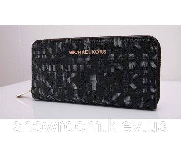 Женский брендовый кошелек в стиле Michael Kors (318) черный, фото 1
