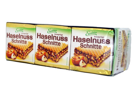 Вафли Excelsior Haselnuss Schnitte 250гр (12 шт).  Германия, фото 2