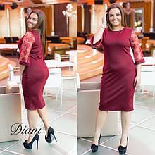 Сукня жіноча ошатне джерсі рукав італійське мереживо розміри:48-50,52-54,56-58
