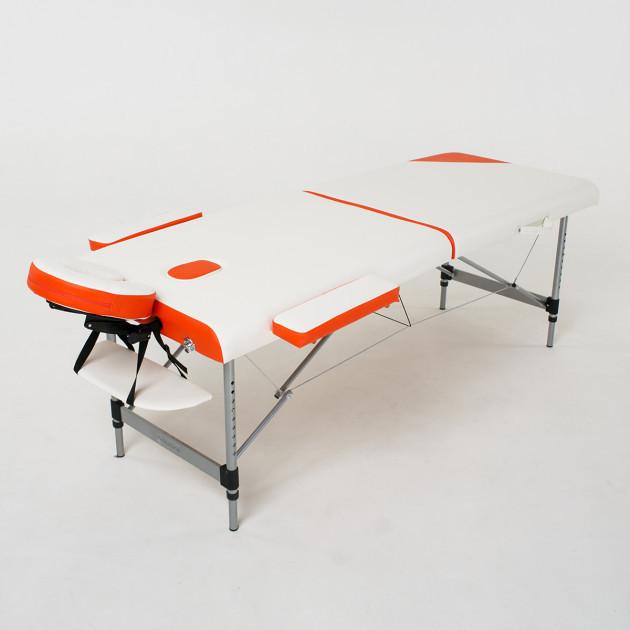 Складной 2-х секционный алюминиевый массажный стол  Sonata