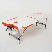 Складной 2-х секционный алюминиевый массажный стол  Sonata, фото 1