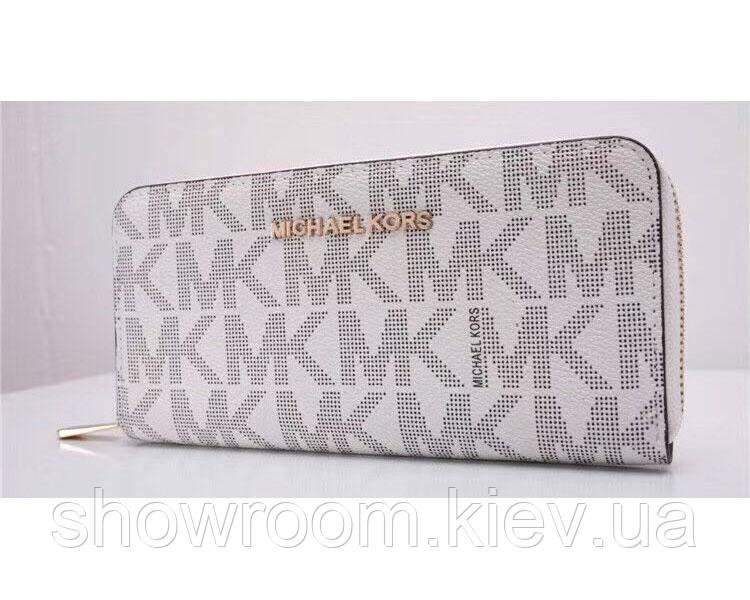 Женский брендовый кошелек в стиле Michael Kors (318) белый