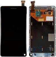 Дисплей (экран) для телефона Nokia N9-00 + Touchscreen with frame Original Black