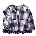 Стильная хлопковая мягенькая рубашечка в клетку (Размер 5Т) Оldnavy (США), фото 2