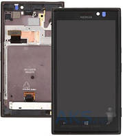 Дисплей (экран) для телефона Nokia Lumia 925 + Touchscreen with frame Original Black