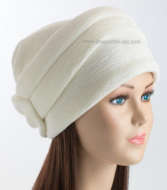 шапка кубанка с изящным бантом Odyssey белая цена 164 грн купить