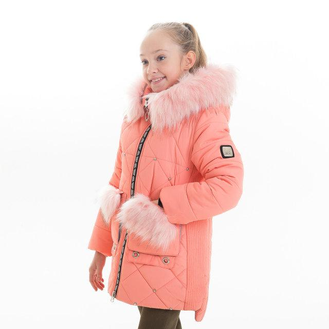 """Куртка зимова для дівчинки """"Люкси"""" (корал)"""