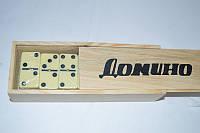 Гра Доміно в дерев'яній коробці