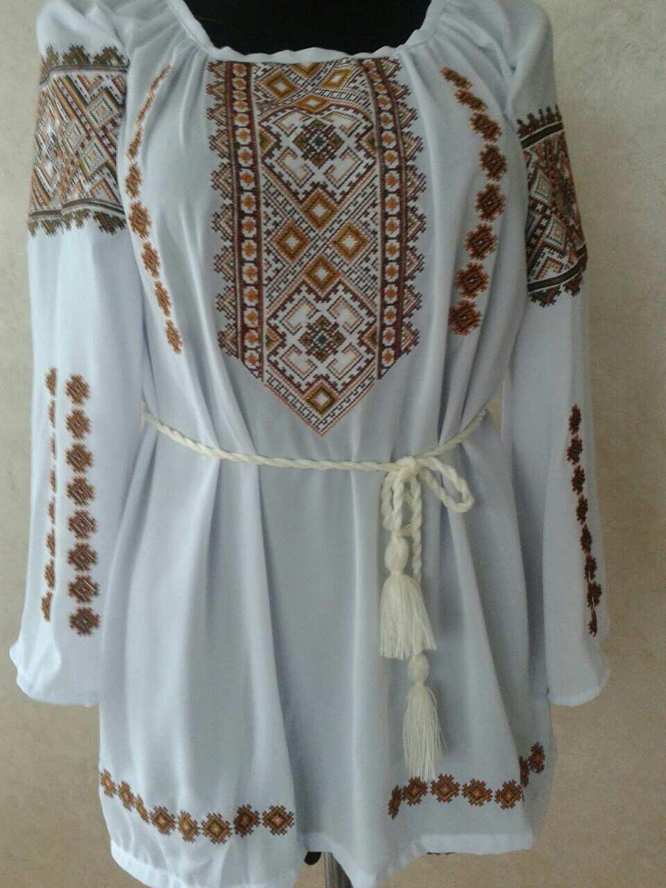 "Жіноча вишита сорочка (блузка) ""Ерліне"" (Женская вышитая рубашка (блузка) ""Ерлине"") BU-0035"