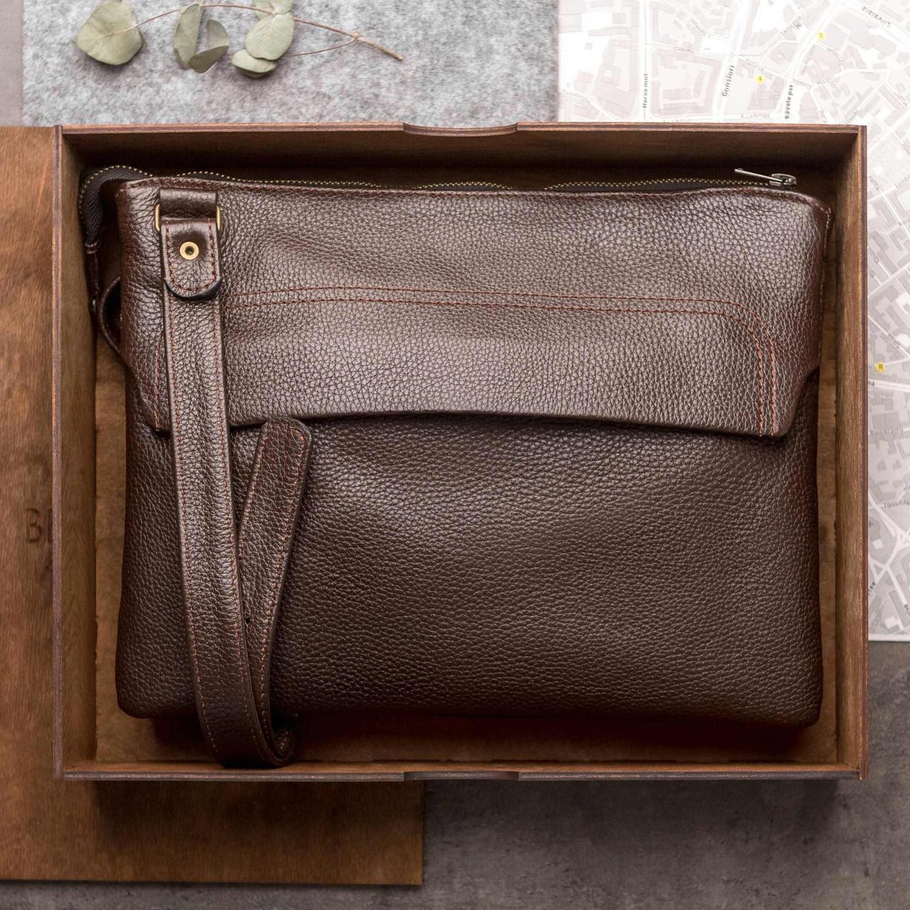 Кожаная мужская сумка через плечо, мужская сумка