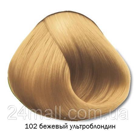 Vitality's Crema Color - Стійка крем-фарба 102 (бежевий ультра блондин)