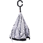 Зонт обратного сложения Up-Brella Journal White 20000, КОД: 185128, фото 2