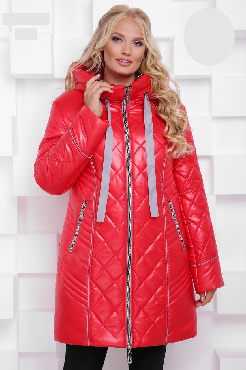 Зимняя БАТАЛЬНАЯ куртка с 50 по 68 размер Красный
