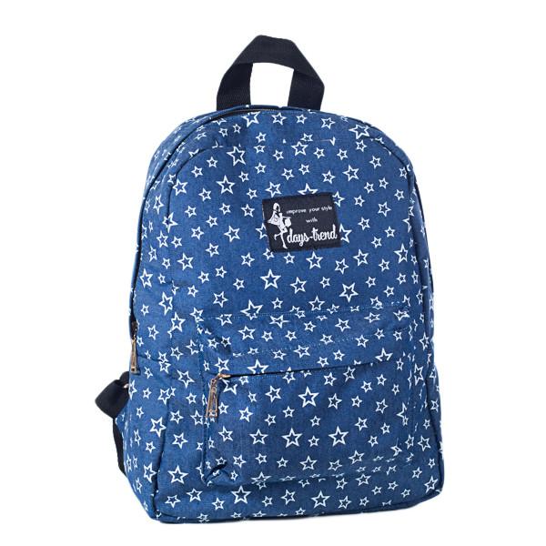 Рюкзак женский  Mayers  молодежный с принтом Звезды и логотипом, 7.5 л, фото 4