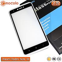 Защитное стекло Mocolo Xiaomi Redmi Note 4X Full cover (Snapdragon) (Black) - Full Glue, фото 1