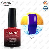 Термо гель-лак CANNI 7.3 мл, №331 темно-синий - фиолетовый