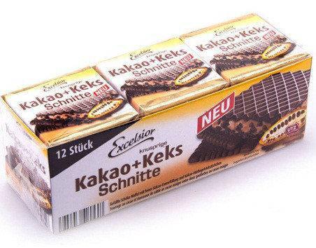 Вафли Excelsior Kakao Keks Schnitte 250гр (12 шт)  Германия, фото 2