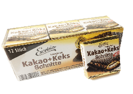 Вафли Excelsior Kakao Keks Schnitte 250гр (12 шт)  Германия