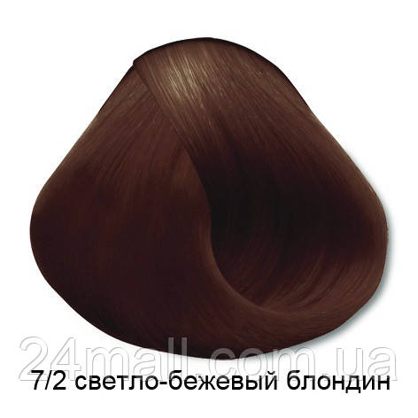 Vitality's Crema Color - Стійка крем-фарба 7/2 (світло-бежевий блондин)