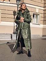 Свободное зимнее пальто одеяло с капюшоном, фото 1