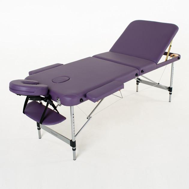 Складной 3-х секционный алюминиевый массажный стол  Belize