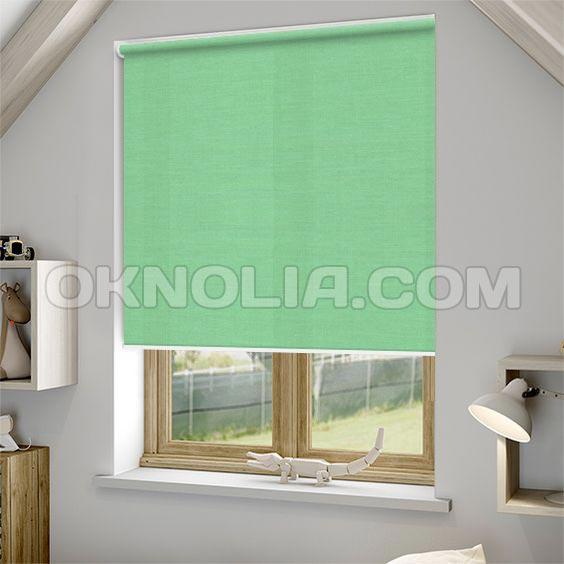 Рулонные шторы Ара 1001 зеленая, 100*170 см