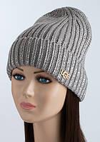 Женская шапка-колпак UGG серого цвета