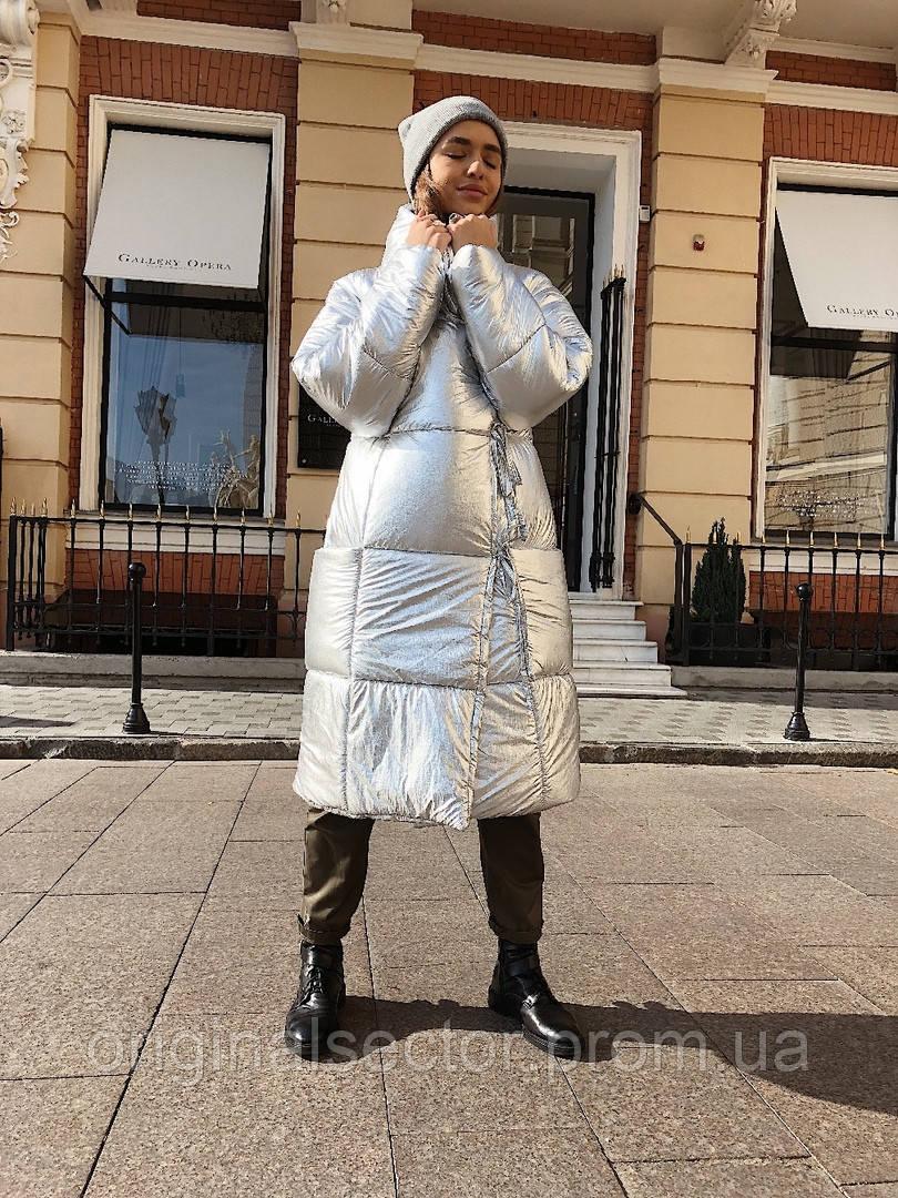 Женский пуховик-одеяло на завязках