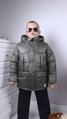 Тёплый комплект для мальчика р.86-116 хаки+черный, фото 2