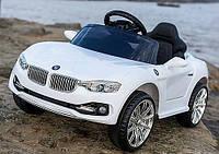 Детский электромобиль БМВ BMW белый (разные цвета) M 3175 EBLR-1. Колеса EVA, кожаное сидение.