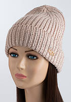 Вязаная шапка красивого пудрового цвета UGG