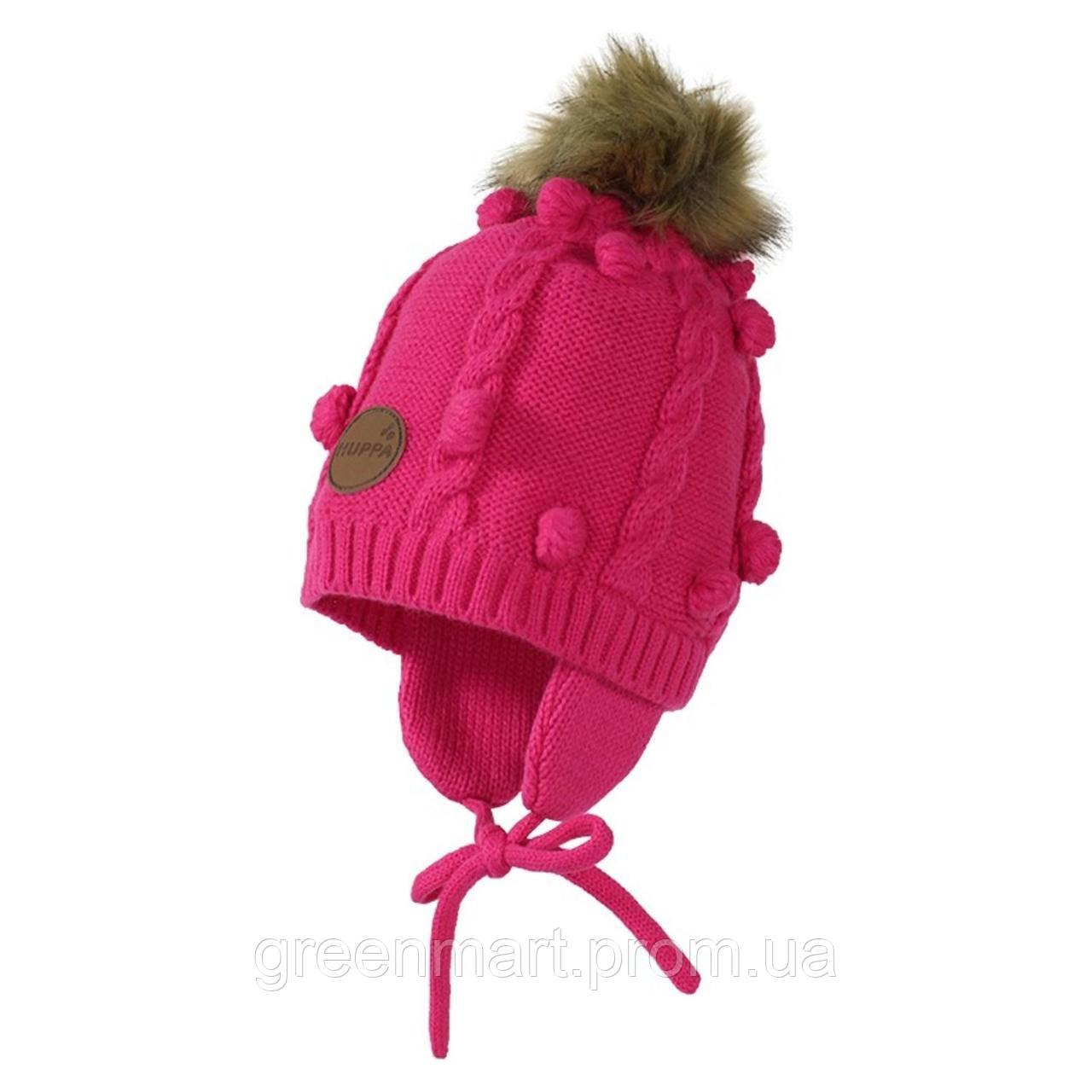 вязаная шапка Macy Fuchsia Huppa продажа цена в киеве шапки от