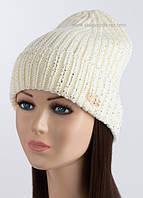 Вязаная шапка-колпак UGG белого цвета