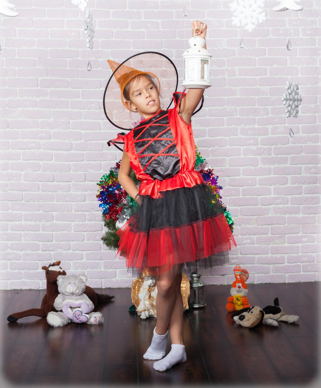 Детский костюм ведьмочки / вампирши красный