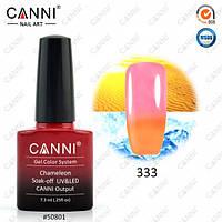 Термо гель-лак CANNI 7.3 мл, №333 пастельный оранжевый - светлый розовый