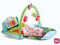 Коврик Пианино для младенца 9911 размер 72-44 см,дуга, подвески 5 шт,