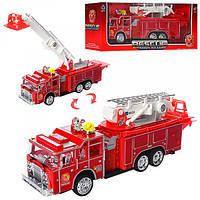 Пожарная машина 1911-54, 31см, ездит, звук, свет, подвижн.детали, на бат-ке, в кор-ке, 34, 5-13, 5-9см