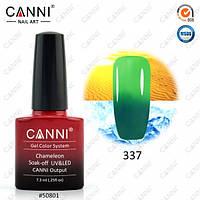 Термо гель-лак CANNI 7.3 мл, №337 темный зеленый - светлый зеленый