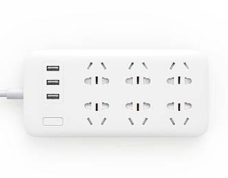 Удлинитель Mi Power Strip (6 розеток  + 3 USB-port) White