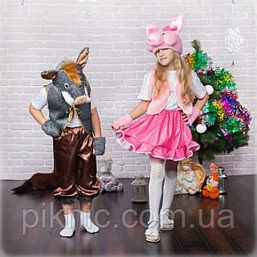 Костюм Хрюша для девочек 3,4,5,6,7 лет. Детский карнавальный новогодний костюм Свинка, Поросенок, фото 2