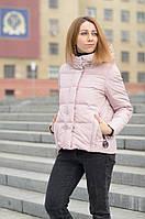 Короткий пуховик жіночий рожевий, фото 1
