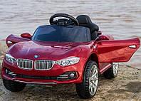 Детский электромобиль БМВ BMW красный (разные цвета) M 3175 EBLR-3. Колеса EVA, кожаное сидение.